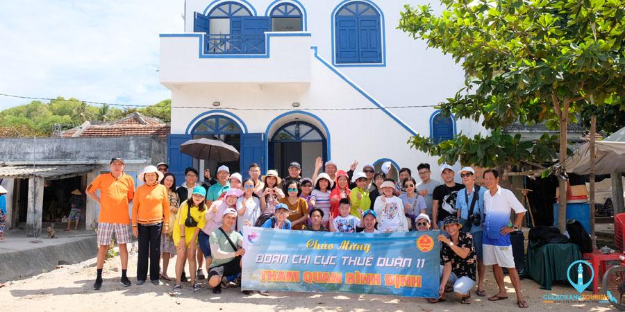 Khách du lịch tham quan Đảo Cù Lao Xanh _ 0869022202_ Cù Lao Xanh Tourism