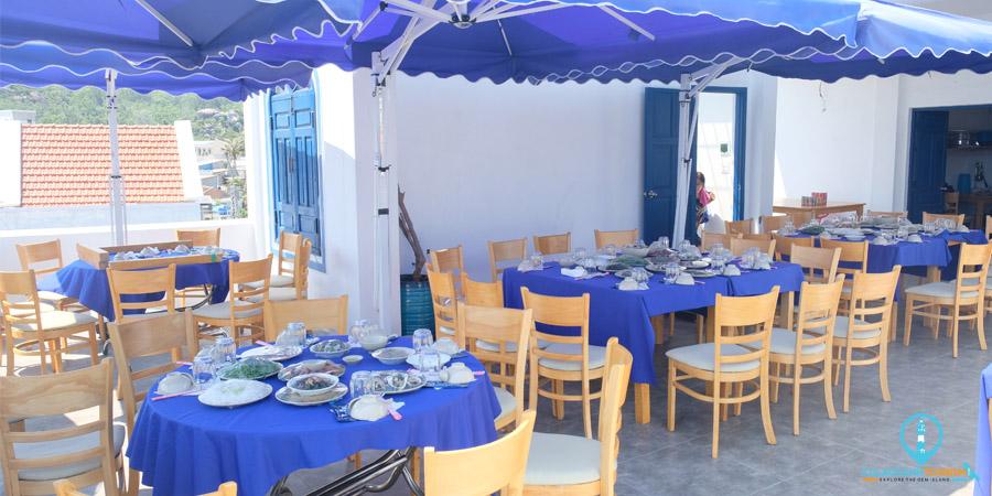Nhà hàng của Cù Lao Xanh Tourism tại Cù Lao Xanh Homestay